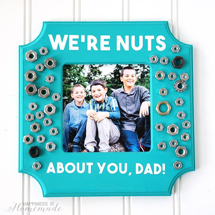 Were-Nuts-About-You-Dad-Photo-Frame-Kid-Made-Fathers-Day-Gift-Idea